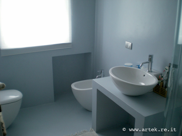Rivestimento Parete Bagno In Resina Pictures to pin on ...